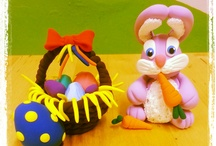 Jumping Easter Workshops / Great workshops, using our magnificent air dry clay to create lovely little Easter artworks. Join some of our holiday clubs and you to can learn through play.
