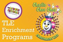 TLE Enrichment Programs / The Learning Experience® is devoted to cultivating creative, compassionate and innovative thinkers. Our enrichment kit programs serve as fundamental components to help achieve that goal. Music, math, science, dance, Yoga, performing arts, and physical fitness are all components of our exceptional Charlie Choo Choo® enrichment kits.