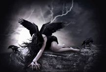 dark angels, celestial beings, and other beautiful things / ethereal netherworld angels celestial beings all things Magical