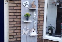 Zelfgemaakte projecten / In huis hebben we veel handige en leuke dingen zelf gemaakt, ook veelal hergebruik van materialen
