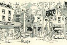 Moleskine/sketchbooks / by Ken Hewitt