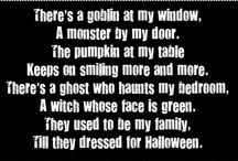 Halloween - Threadbare Lace Upon Faded Leaves / Poems and quotes.