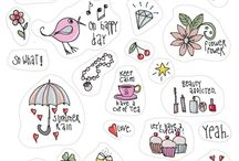 Diary Stickers etc