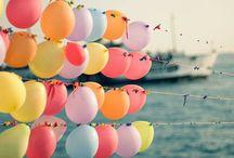 balloons - bubbles - stars