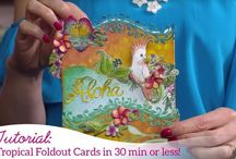 Fold Out Cards / Create EZ dimensional cards with the Fold Out card blanks and dies