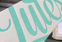 Birth announcement | Calligraphy & Lettering / Geboorte kaartjes en inspiratie voor ontwerpen/design