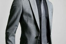 outfit traje gris