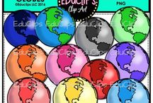 Educlips Countries Clip Art / Clip art sets about countries, places and landmarks.