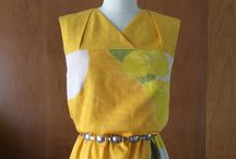 #102 1960s Given a Chance Dress. / Early 1960s Trapeze style dress with draped detail in yoke.