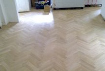 Shop Floor In Herringbone Wood / Client: Business In Central London. Brief: To supply & install wood floor.