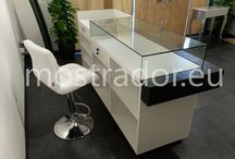 Reception table with display