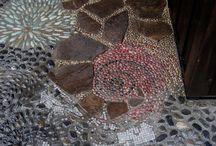 Mozaik / mozaik kerti járda ötletek