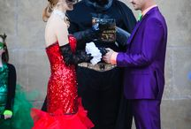 Harley Quinn & joker themed wedding