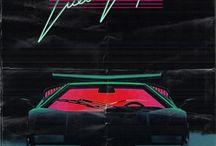 80s Futurism Visual Guide / 80s vibe neon glow diw diw