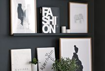 black & white wall design