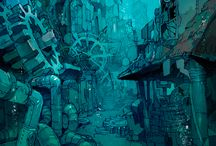 Story: Underwater City / Book idea inspiration board