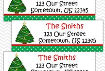 Christmas / Christmas stickers and tags