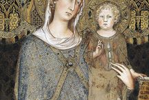 Art - Simon Martini (c. 1284-1344) / Simone Martini (c.1284 – 1344) was an Italian painter born in Siena. He was a major figure in the development of early Italian painting and greatly influenced the development of the International Gothic style. It is thought that Martini was a pupil of Duccio di Buoninsegna, the leading Sienese painter of his time. According to late Renaissance art biographer Giorgio Vasari, Simone was instead a pupil of Giotto di Bondone, with whom he went to Rome to paint at the Old St. Peter's Basilica