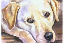 Labrador Retriever Art by Lyn Hamer Cook / My art of the Labrador Retriever.