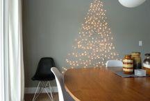 Platte kerst / Doe eens anders en vier kerst eens zonder echte boom. Hier vind je de leukste kerstbomen die net even anders zijn.