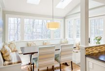 Breakfast Nook / A breakfast or dining nook, not as large as a dining room but just as dedicated for sharing meals throughout the day and into the night. A nook is comfortable, available for dining, snacking, and even working.