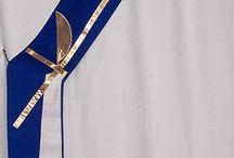 Blue Deacon Stoles / Deacon stole designs for Advent.