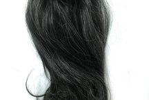 Human hair ponytails
