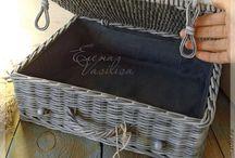 плетеные сундуки