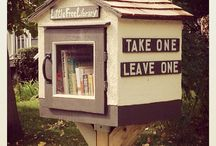 Little Free Community Library - Curbside Library Ideas / I want to make a little library out the front of our place so first I am gathering ideas as to what looks good and what is functional. Needs to withstand all sorts of weather and be user friendly and self explanatory.