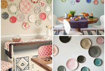 20 ideas for decorating walls with dishes