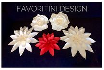 Favoritini Design / Luxury Service of Paper Flowers to design your home, unique wedding , baby shower and events.
