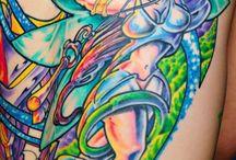 tattoo psychedelic/picodélica