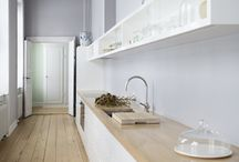 Simple Kitchen White & Wood