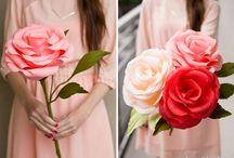 Розы с бумаги
