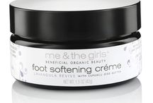 Foot Care Products / Restore beautiful, soft skin with our 100% vegan and 99% organic foot care products! #FootCare #MeAndTheGirls #FootScrub #FootCream