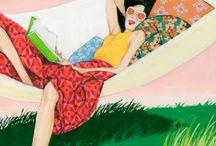 Read in hammock / Читающие в гамаке