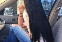 Czarne włosy