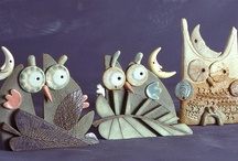Eule keramik