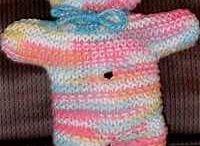 knit & crochet  teddy bears