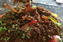 zombie taart / zombie cake, taart voor Arwyn's 10e verjaardag