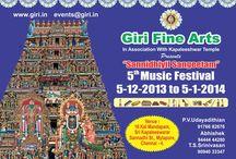 "GIri Fine Arts Present ""Sannidhiyil Sangeetham"" / 5th Music Festival 5 Dec 2013 to 5th Jan 2014"