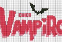logo chica vampiro / schema logo chica vampiro