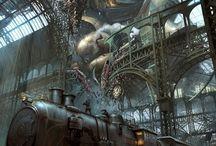 Art | Steampunk / Steampunk wall art by Imagekind artists.
