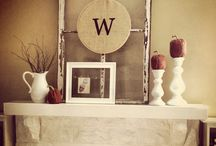 mantle decor / by Tiffany Carr