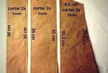 Moldes de Claudia Rosa Blog / Moldes das peças feitas no Projeto Recicla Jeans do Claudia Rosa Blog.