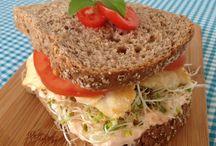 pães e sanduíches