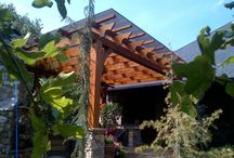 Pergola: Polygal cover / Pergolas covered with polygala. It keeps the rain out without sacrificing natural light.