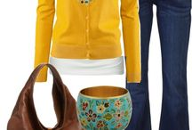yellow cardigan and jacket