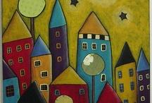 městečko domky