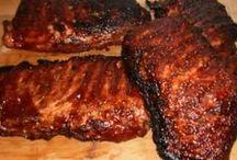 Fleisch und Barbecue